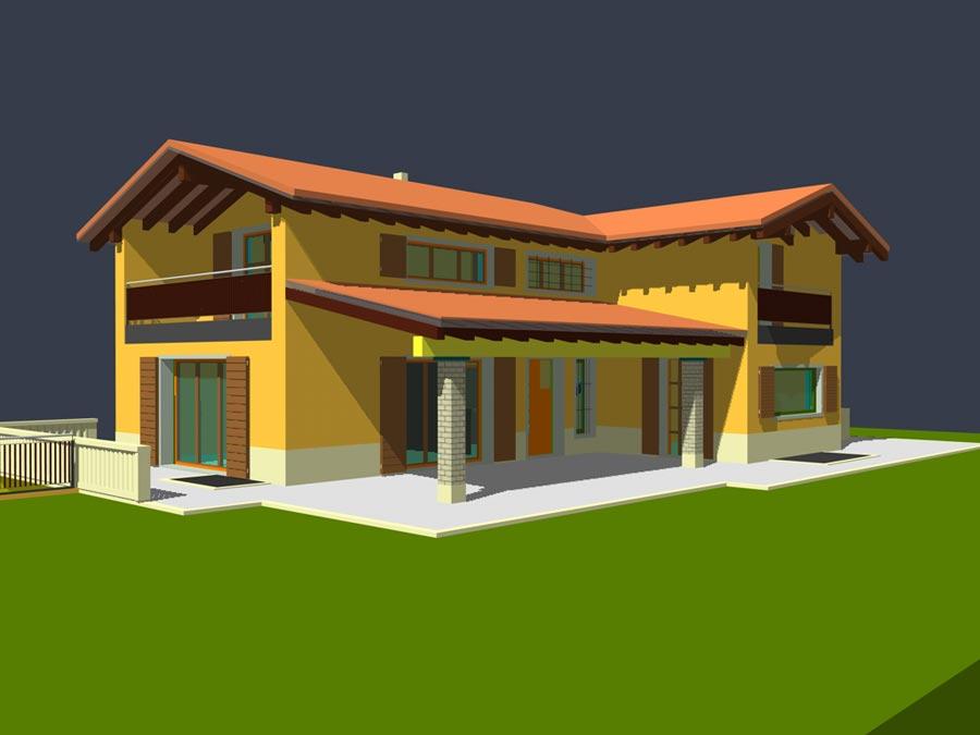 Progetto casa unifamiliare filippo piattelli progetto for Piani casa unifamiliare
